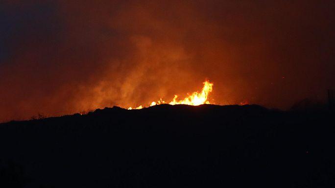 В Наварре бушует пожар
