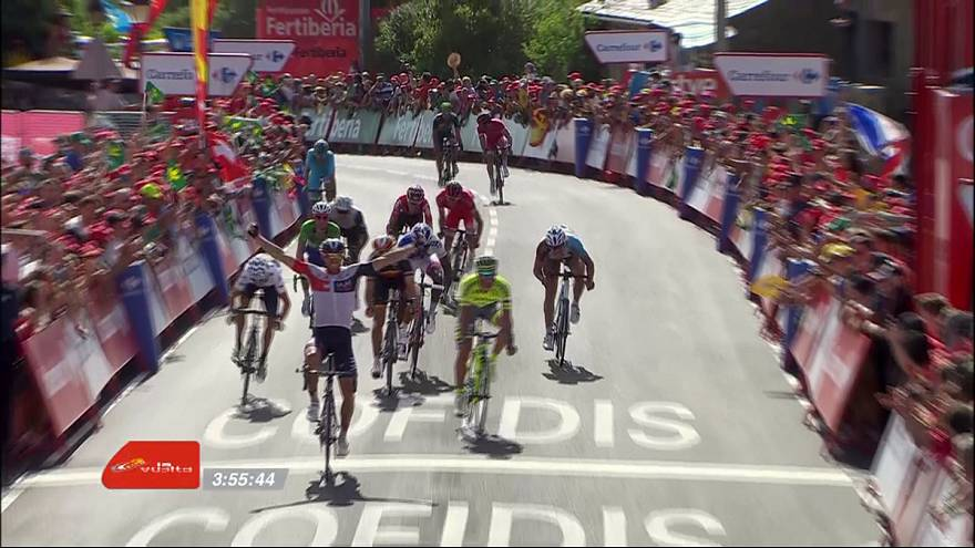 Vuelta: Van Genechten vince la 7a tappa, ancora una caduta per Contador