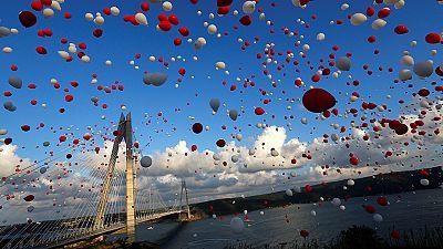 Turquía inaugura su tercer puente sobre el Bósforo, una estructura faraónica de récord