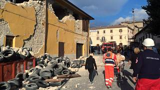 Accumoli, inside the town near the quake's epicentre