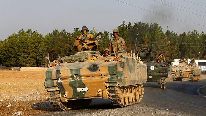 Турция продолжает военную операцию на севере Сирии