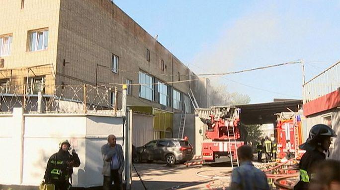 Moskova'da depoda yangın: 17 ölü