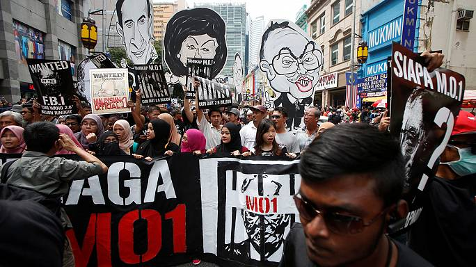 Malaysian protesters call for PM's arrest