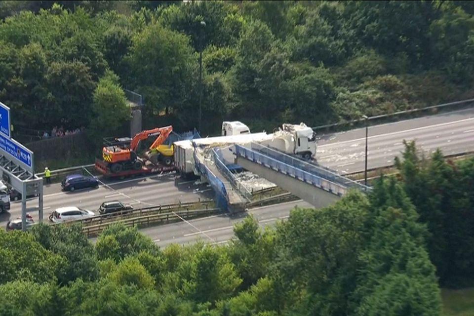 UK: M20 bridge collapse causes travel chaos