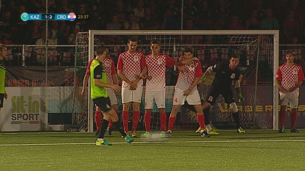 منتخب كازاخستان يتوج بلقب بطولة أوروبا لكرة القدم المصغرة هواة