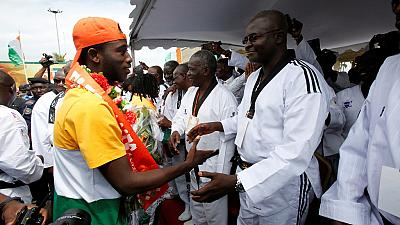 Ivorian Olympic team return home from Rio