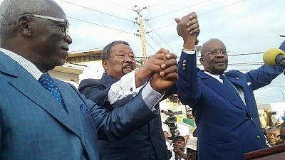 Gabonese opposition candidate declares himself winner of the election