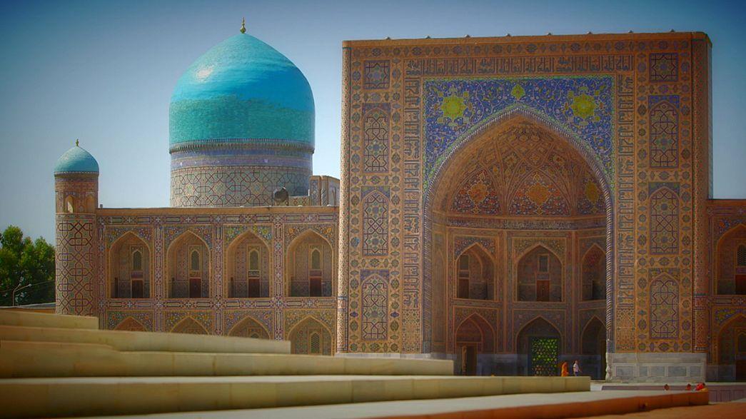 Postcards: Özbekistan'ın sembollerinden, Altın Kaplamalı Medrese
