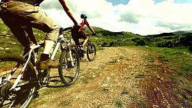 Gipfelsturm per Mountainbike im mazedonischen Galičica-Nationalpark