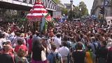 Hindu devotees parade through Paris to celebrate the elephant god Ganesh