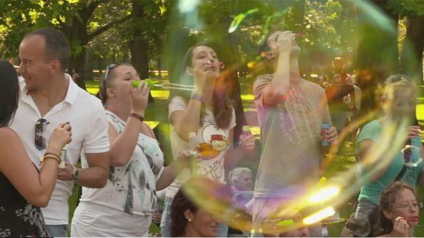 A buborékfújás napja Budapesten