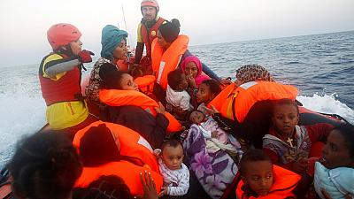 Spanish humanitarian organization rescues migrants off the coast of Libya