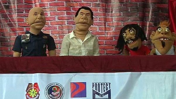 Presidente filipino leva campanha anti-droga às crianças
