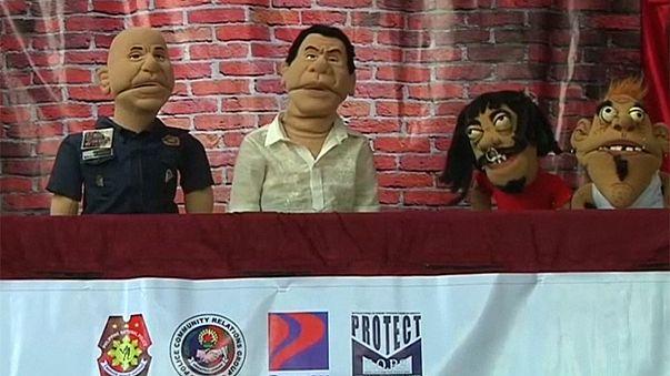 Philippine: un puppet-show comme campagne anti-drogue dans les écoles