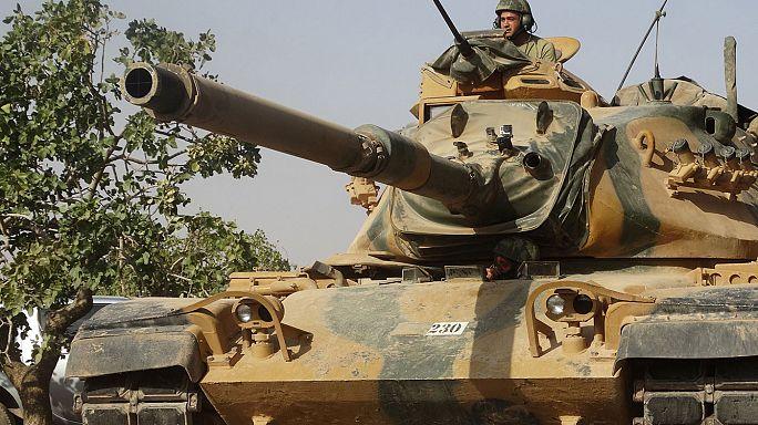 Özgür Suriye Ordusu Menbiç yolunda