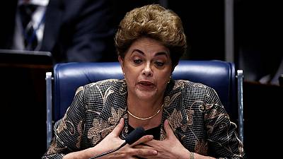 Brazil's Dilma Rousseff defends her record in marathon impeachment trial