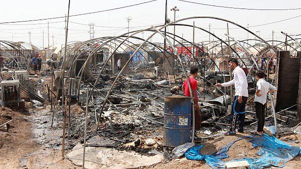 Irak: több mint hetven sátor égett le egy menekülttáborban