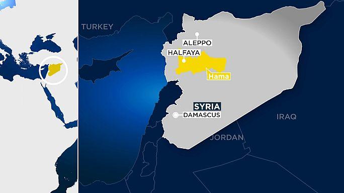 مسلحو المعارضة السورية يتقدمون في ريف حماة الشمالي ويسيطرون على حلفايا