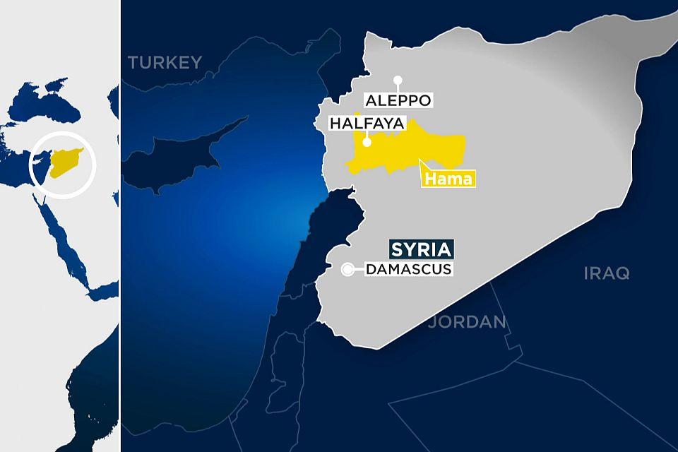 Rebel groups 'capture strategic Syrian town of Halfaya'