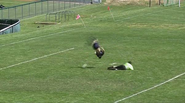 Fútbol acrobático en Colorado