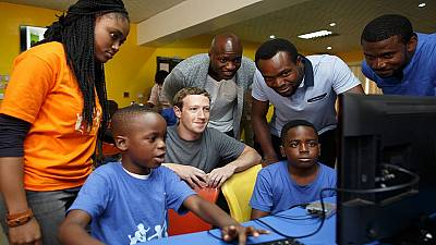 Facebook's Mark Zuckerberg walks the streets of Lagos on first Africa trip