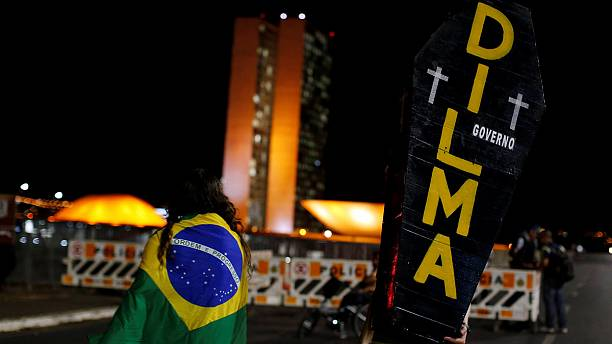 Decision day for Dilma: Brazilian president awaits outcome of impeachment vote