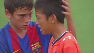 فريق اشبال برشلونة يفوز على فريق الاشبال الياباني في طوكيو