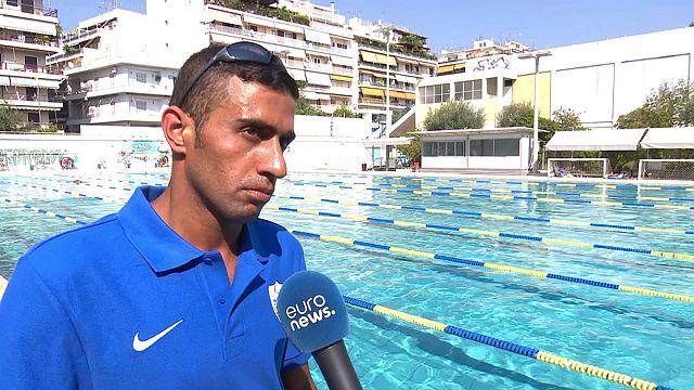 السباح السوري ابراهيم الحسين يبحث عن حياة رياضية جديدة رغم همّ الإعاقة و اللجوء