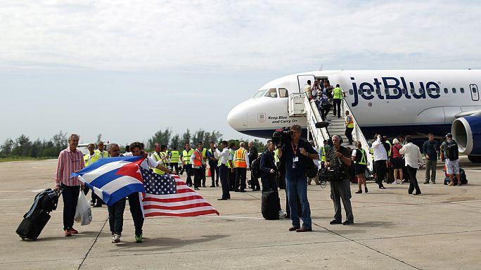 Kuba: Erster US-Touristenflug seit 1961 gelandet