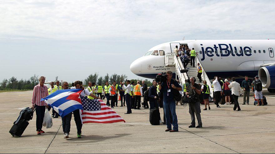 ABD- Küba ilişkileri: 1961'den sonra ilk tarifeli uçak seferi yapıldı
