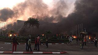Gabon / présidentielle : l'Assemblée nationale incendiée par des manifestants