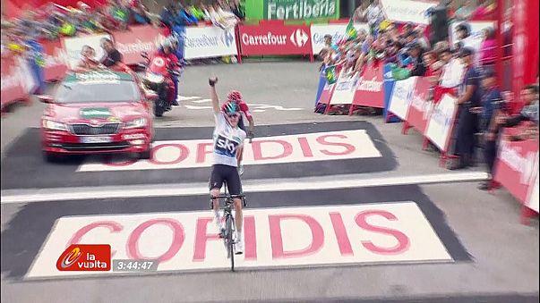 La Vuelta: Froome 11. etapta farkı azalttı