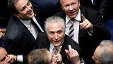 ميشال تامر يؤدي اليمين الدستورية ويتولى رئاسة البرازيل