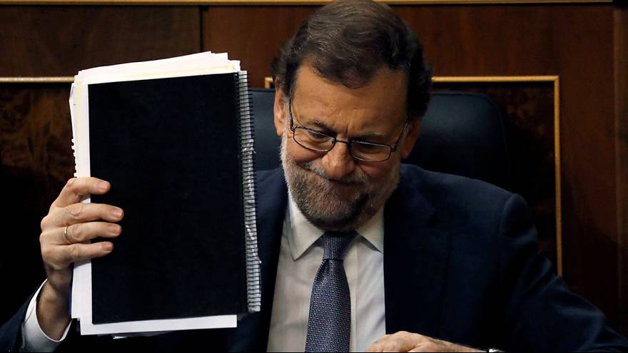 Spain's acting PM Mariano Rajoy loses parliament confidence vote