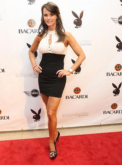 Karen McDougal at Playboy\'s Super Saturday Night Party in Miami Beach, Florida, in February 2010.
