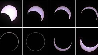 Solar eclipse watchers celebrate Reunion 'ring of fire'