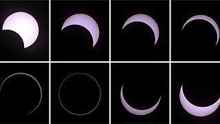 Eclipse solar testemunhado nas ilhas do Índico e Costa Leste de África