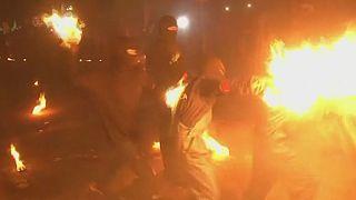"Festival des ""boules de feu"" au Salvador"