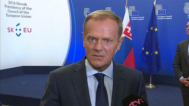 """""""União Europeia tem de ser garantia de proteção"""", diz Tusk"""