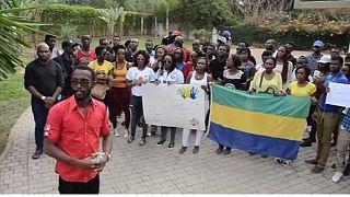 Les gabonais protestent au Maroc contre la réélection d'Ali Bongo [no comment]