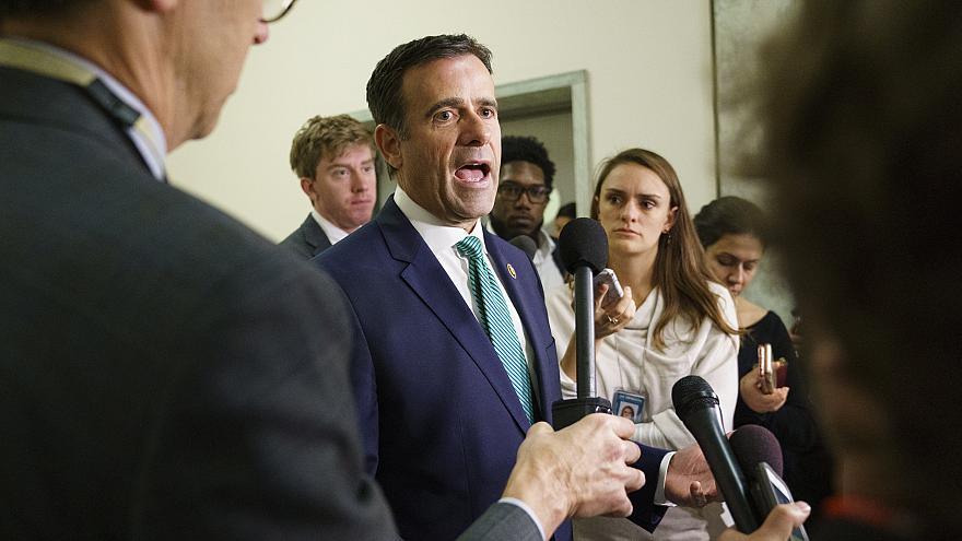 Rep. John Ratcliffe speaks to media on Capitol Hill in October.