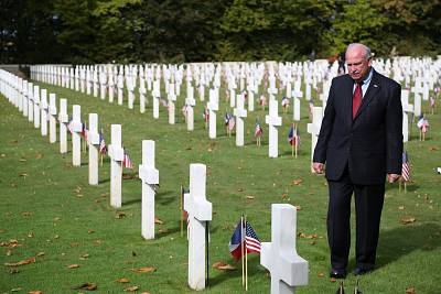 Gerald York, grandson of Sgt. Alvin York, who received a Medal of Honor for his actions in World War I, visits the St. Mihiel American Cemetery in France.