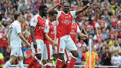 Ex-Nigeria skipper Kanu scores three times in Arsenal charity game