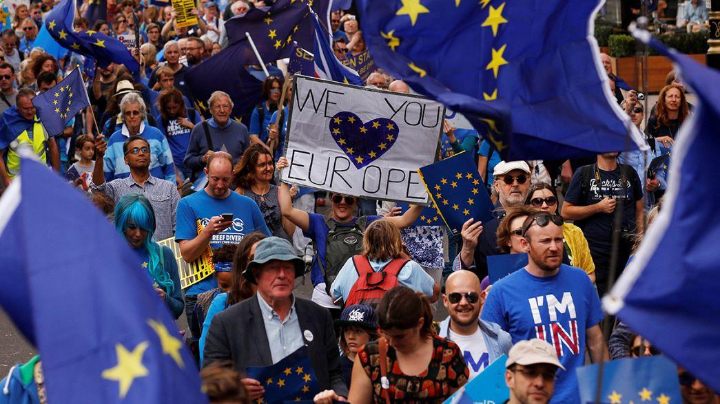 راهپیمایی سراسری مخالفان خروج بریتانیا از اتحادیه اروپا