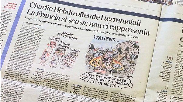 """Terramoto em Itália: A """"réplica"""" do Charlie Hebdo"""