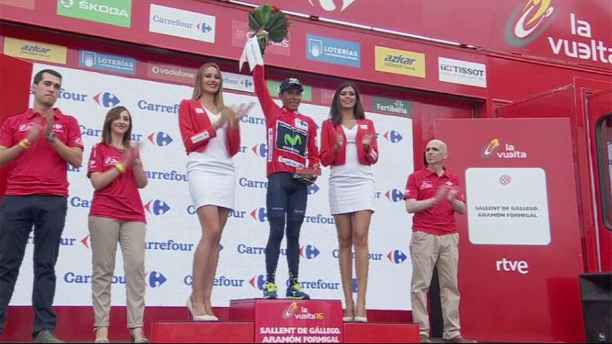 Histórica etapa de La Vuelta: Quintana saborea el triunfo