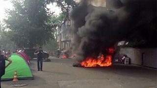 Ukrayna'da 'Rusya yanlısı' özel kanalda yangın