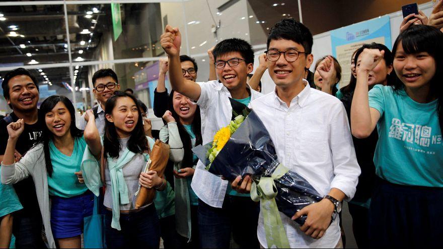 هونغ كونغ: انباء عن انتزاع المعارضة لثلث المقاعد في البرلمان