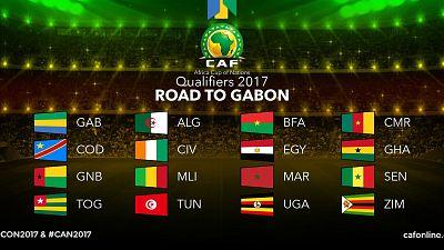 CAN 2017 au Gabon, les seize équipes qualifiées pour la phase finale sont connues