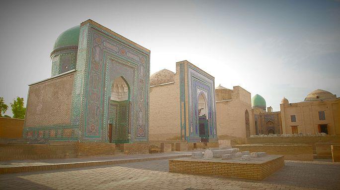 La belleza del complejo de Shaji Zinda en Uzbekistán